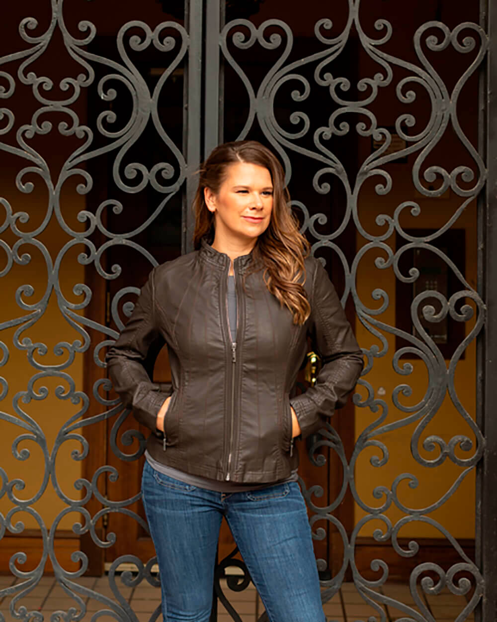 Sonia leather jacket